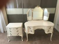 Stunning Louis style kidney shape dressing table and matching drawers