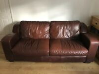 Leather sofa in reasonable condition. 8 years old . Offers in the region of £100.