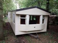 WILLERBY RICHMOND 2007 35 X 12 FOOT OFFSITE WITH WOODBURNER