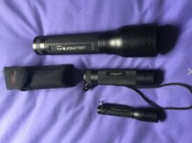 Snap on lenser torch set x3 as pictured