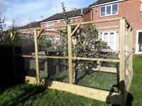 8ft x 12ft x 6ft quality built walk in chicken run. treated timber