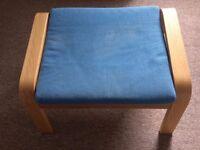 Ikea Poang footstool Navy