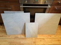 14 boxes of Large Grey Bathroom Kitchen Floor Tiles by Graniser Seramik St Moritz Bianco RRP £550