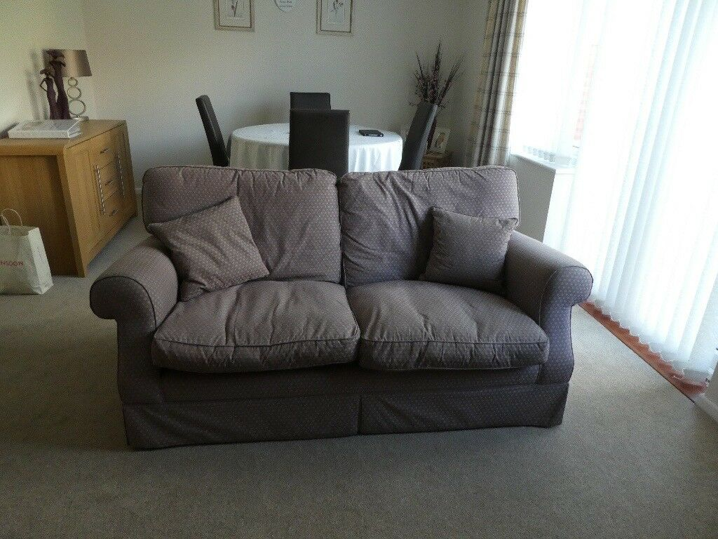 Pair of Laura Ashley 3-seater sofas