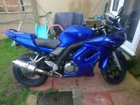Suzuki sv 650 blue low mileage mot keys logbook ready to go