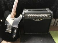 Squire Telecaster and Spider II amp