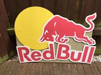 Red bull sign