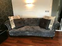 DFS Concerto 4 Seater Sofa in Dark Grey