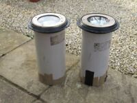 2 x 100W Garden/Building Uplighters - Professional Quality (Hunza )