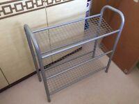 Sturdy 3 tier metal shoe rack