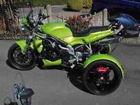 Triumph Speed Triple Trike, profesionally built, by trikeshop uk