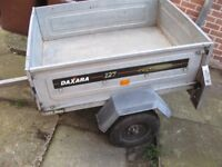 Daxara 127 box galvanized car trailer