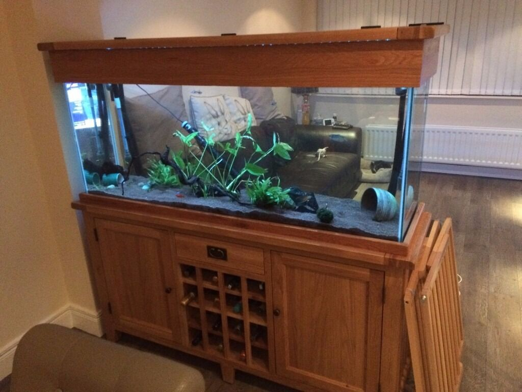 Aqua oak 160cm 39 wine rack 39 aquarium and cabinet aq160wr for Fish tank rack