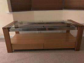 Wooden/Glass TV Table/Coffee Table