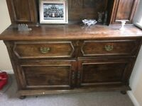 A Welsh Dresser needs some tlc but a striking piece of furniture providing ample storage.