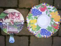 Plastic Picnic / Kitchen Bowl & Chopping Board