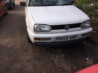1997 Volkswagen Golf CL 5 dr Hatchback 1.6L Petrol White BREAKING FOR SPARES
