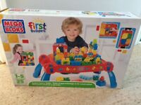 Mega bloks table and bricks including an extra set, perfect condition!