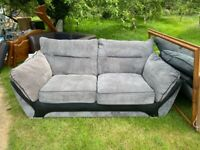 Sofa - grey fabric 2/3 seater. Collection only