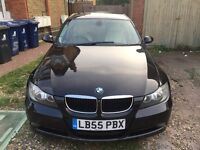bmw 320d 3 series e90 saloon black cream leather diesel 2L engine 3 owners
