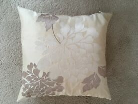 2 small square decorative cushions 35cm x 35cm (13.75 inches) in excellent condition. £10