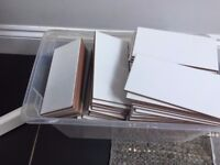 Approx 100 Metro Flat Gloss White Kitchen Wall Tiles 20x10cm