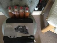 Portable gas camping stove & 4 refills