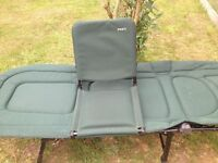 Fox ultra bed chair and bed chair buddy as new used only a few times