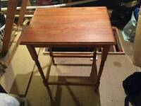 SOLID WOOD TABLE HEIGHT 74 CM, WIDTH 45 CM, LENGTH 60 CM