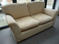 Sofa - 2 seater, light gold in colour