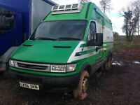 iveco daily 6.5 ton half chiller half fridge