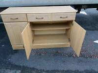 Iight oak sideboard in as new condition