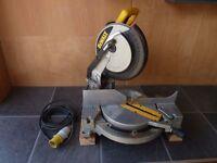 """DeWalt DW702 10""""(250mm) Non Compound Mitre / Chop Saw - 110v"""