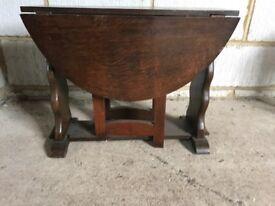Dark oak gateleg Occasional table