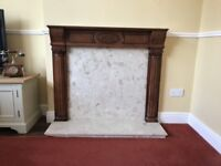Lovely fire surround plus all marble separate inset