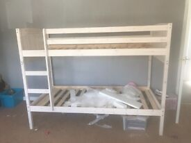 Ivory wooden bunk beds