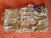 BRAND NEW with tags- Hem&Edge green scarf with fox faces