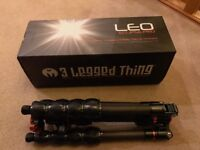 3 Legged Thing Leo eclipse carbon fibre tripod, mint condition, boxed with all accessories RRP £300