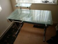Glass Office Computer Table