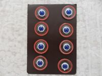 Vintage French Glass Buttons on 3 cards c 1920s
