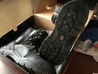 Lined safety boot