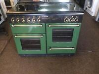 Black & green rang master 110cm gas cooker grill & double oven good condition with guarantee bargain