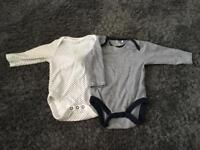 Next long sleeve baby vests. Size 3-6 months