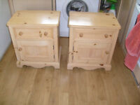 Solid wood bedside tables/units /cabinets sold as a pair