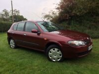 CHEAP CAR LOW MILEAGE NISSAN ALMERA MANUAL - 11 NISSAN SERVICES LONG MOT