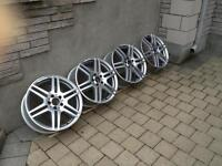 """A SET OF MAG 18"""" AMG MERCEDES-BENZ  ALMOST NEW"""