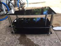 Gloss black tv unit in excellent condition