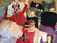 Job Lot Of Kids Pyjamas Clothing Minnie Mouse Speedo Hello Kitty Justin Bieber