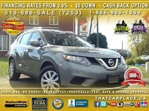 2014 Nissan Rogue SV-$85Wk-Bluetooth-Pwer Sunroof-BackUp Cam