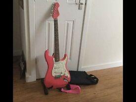 Pink Eletric Guitar
